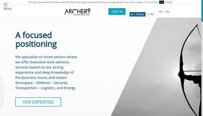 Site internet de Archery Strategy Consulting