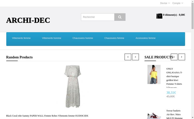 Capture d'écran du site de Archi Deco Conseil