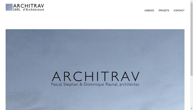 Capture d'écran du site de Architrav