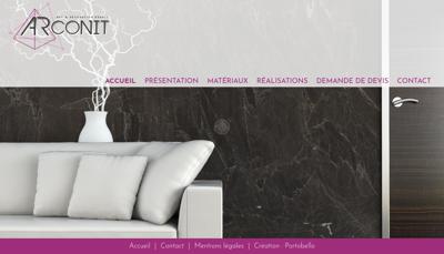 Capture d'écran du site de Arconit