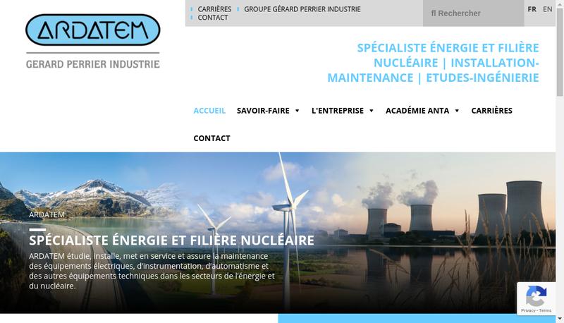 Capture d'écran du site de Ardatem
