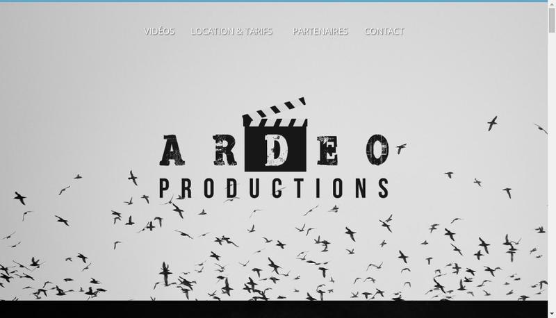 Capture d'écran du site de Ardeo Productions