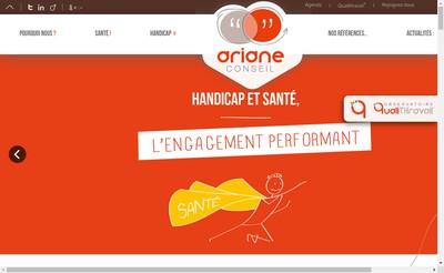 Site internet de Ariane Conseil