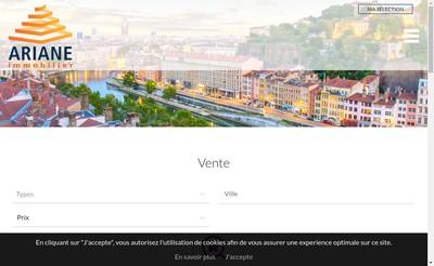 Site internet de Ariane Immobilier
