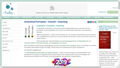 Site internet de Ariane Sud Entreprendre