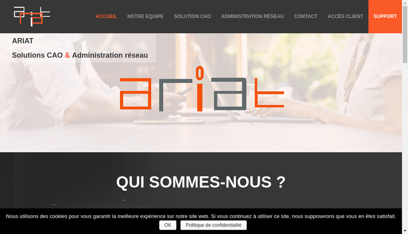 Capture d'écran du site de Ariat