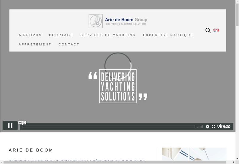 Capture d'écran du site de Arie de Boom Services