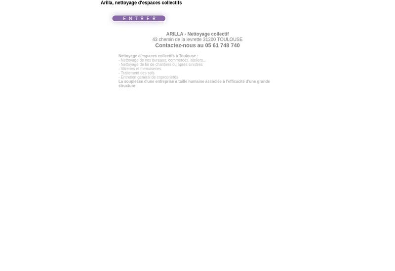 Capture d'écran du site de Arilla