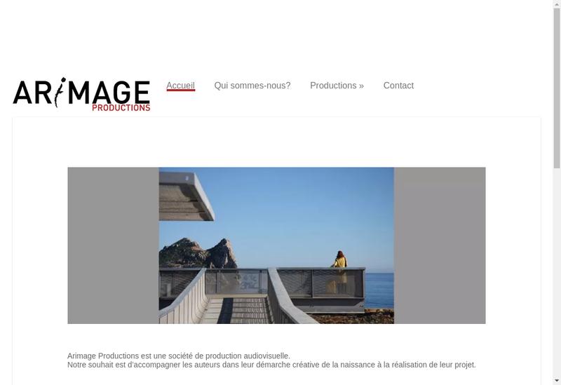 Capture d'écran du site de Arimage Productions
