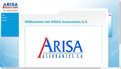 Site internet de Arisa Assurances SA
