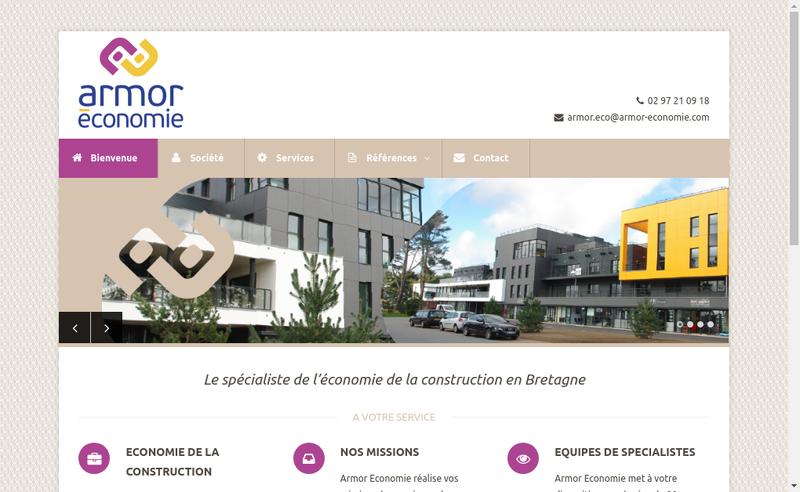 Capture d'écran du site de Armor Economie