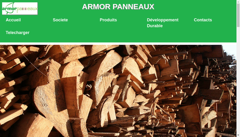 Capture d'écran du site de Armor Panneaux