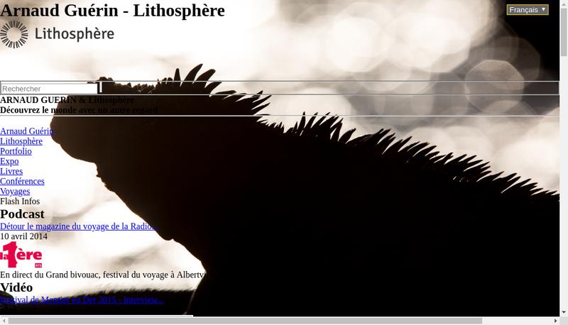 Capture d'écran du site de SARL Lithosphere