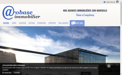 Site internet de Arobase Immobilier