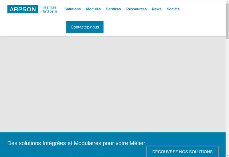 Capture d'écran du site de Arpson Sas