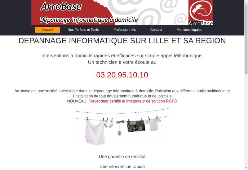 Capture d'écran du site de Arrobase