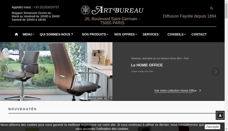 Capture d'écran du site de Artbureau