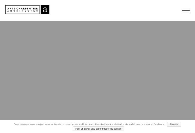 Capture d'écran du site de Arte Charpentier Architectes