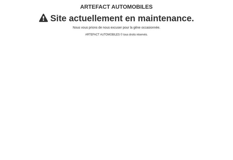 Capture d'écran du site de Artefact Automobiles