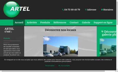 Site internet de Arverne Telecommunications Artel