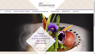 Capture d'écran du site de Art et Gourmandise Traiteur