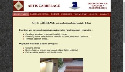 Site internet de Artis Carrelage