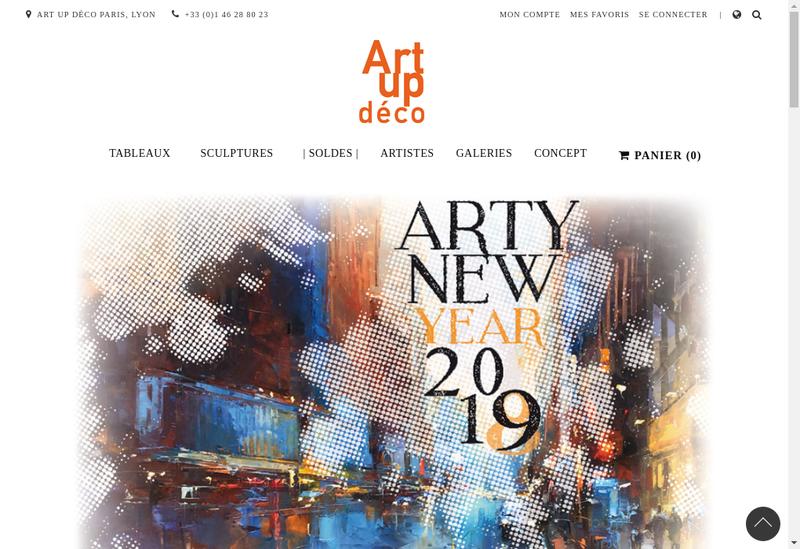 Capture d'écran du site de Art Up Deco