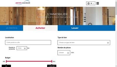 Site internet de Arve Immobilier