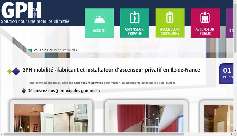 Capture d'écran du site de Gph Mobilite