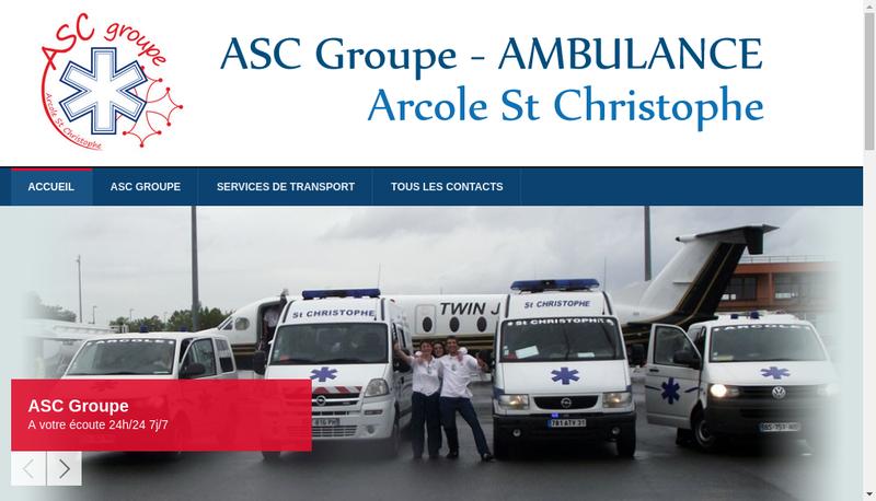 Capture d'écran du site de ASC Groupe