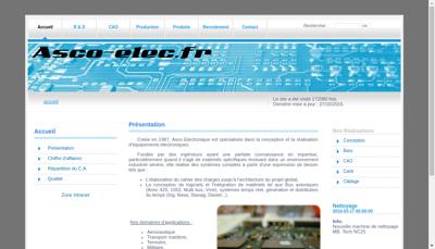 Capture d'écran du site de As Co Electronique