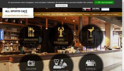 Site internet de All Sports Cafe Rouen