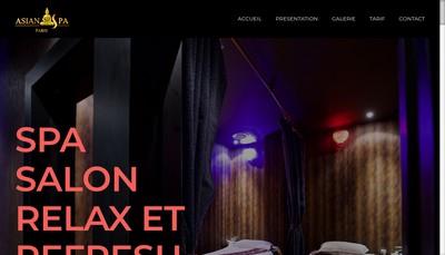 Site internet de Asian Spa Paris
