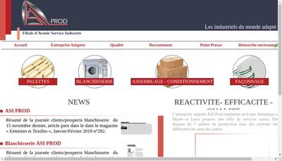 Site internet de Asi Prod