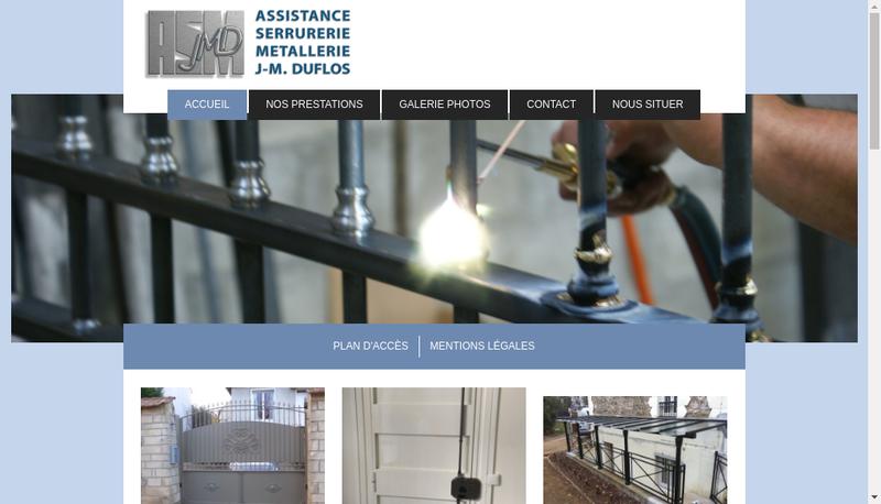 Capture d'écran du site de EURL Asm Jmd