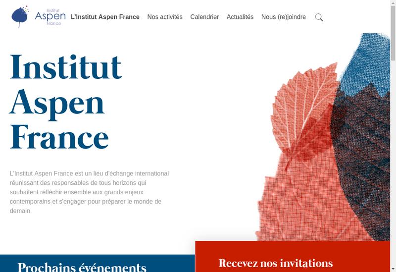 Capture d'écran du site de Aspen France