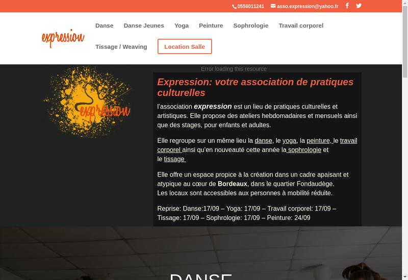 Capture d'écran du site de Ass Expression