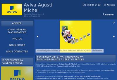 Capture d'écran du site de Michel Agusti