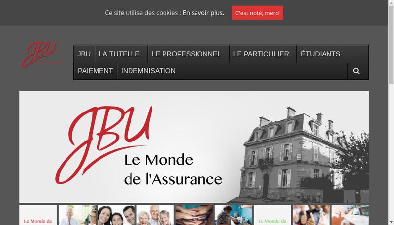 Capture d'écran du site de Assurances Bost Uhlen
