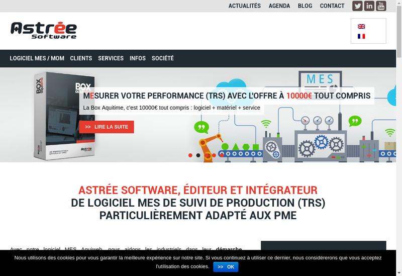 Capture d'écran du site de Astree Software