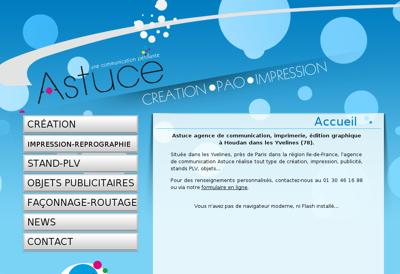 Capture d'écran du site de Astuce