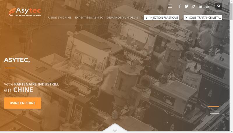 Capture d'écran du site de Asytec