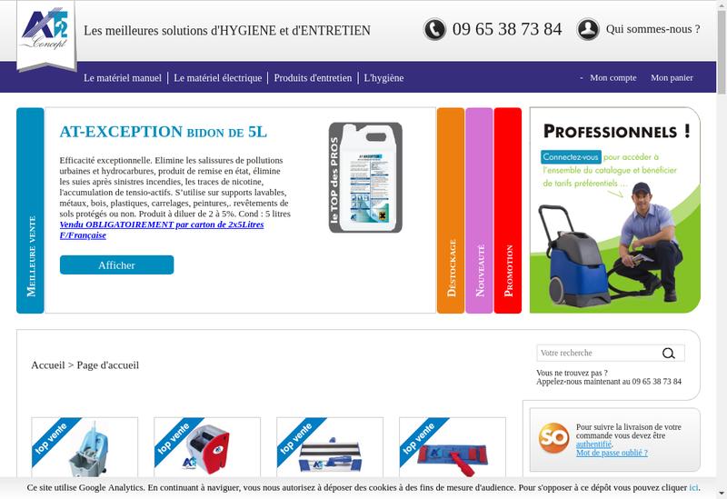 Capture d'écran du site de At2 Concept