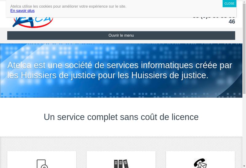 Capture d'écran du site de Atelca