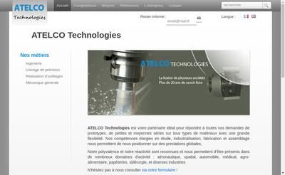 Site internet de Atelco Technologies SAS