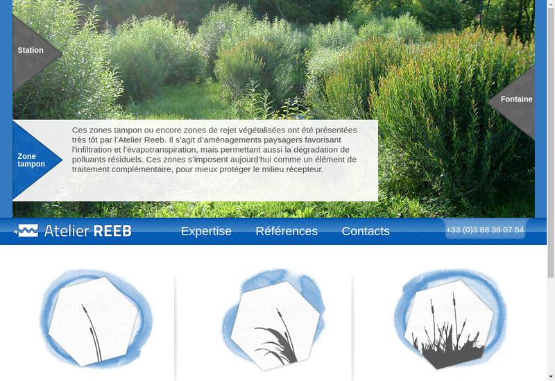 Capture d'écran du site de Atelier Reeb