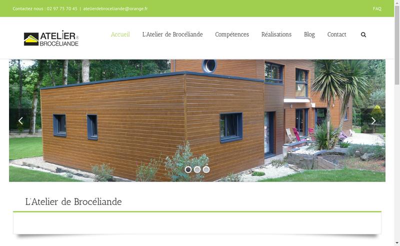 Capture d'écran du site de Atelier de Broceliande