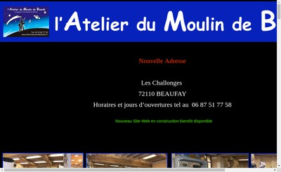 Site internet de L'Atelier du Moulin de Blande