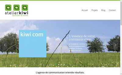 Site internet de Atelier Kiwi