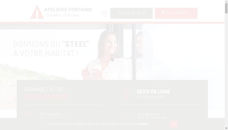 Capture d'écran du site de Societe Exploitation Ateliers Fontaine
